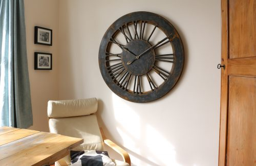 extra large skeleton wall clock