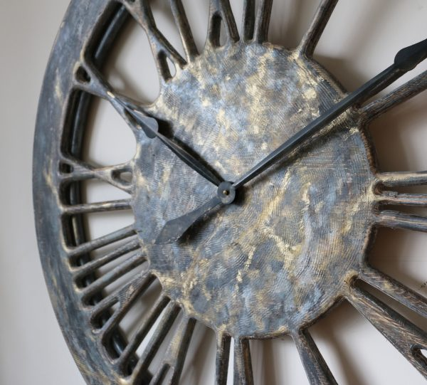 large shabby chic wall clock