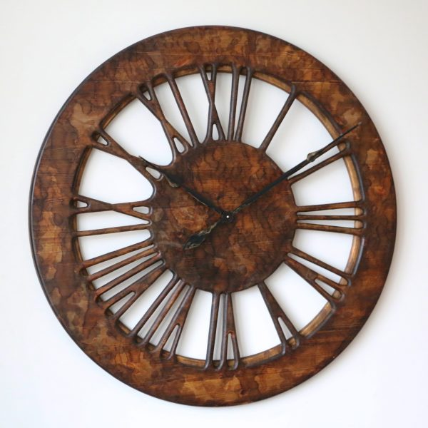 Wooden Vintage Wall Clock Left