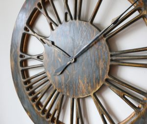 Wooden Kitchen Wall Clock