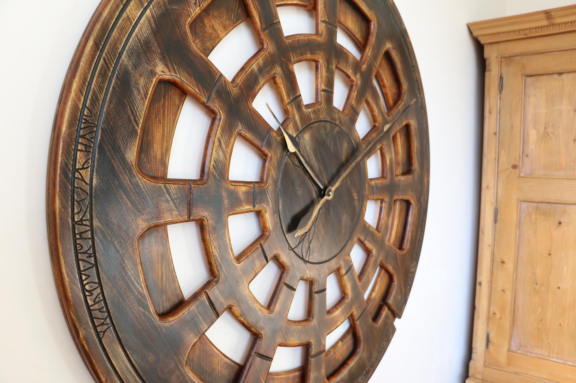 Wohnzimmer Wanduhr aus Holz