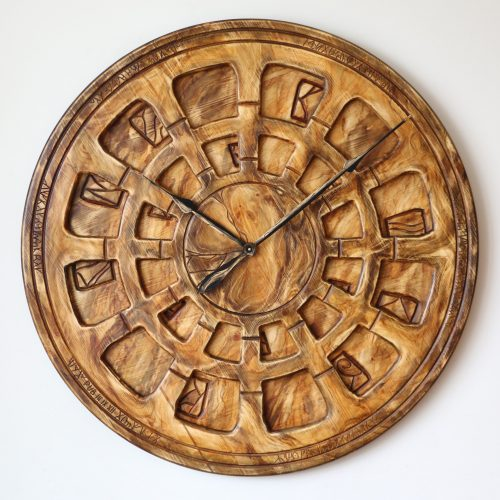 Handcrafted Wooden Wall Clock