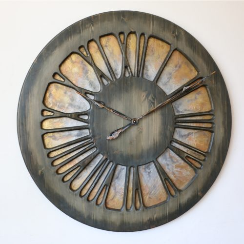 Artistic Wall Clock seen from the left