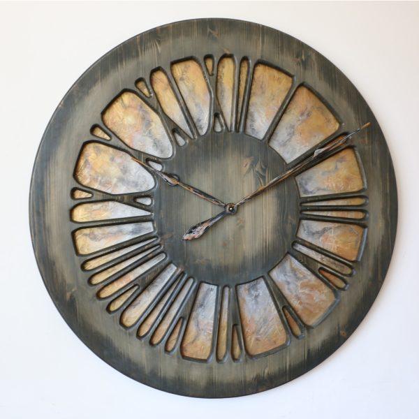 Artystyczny Zegar Ścienny z lewej strony