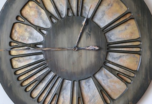 Large Artistic Wall Clock Zoom
