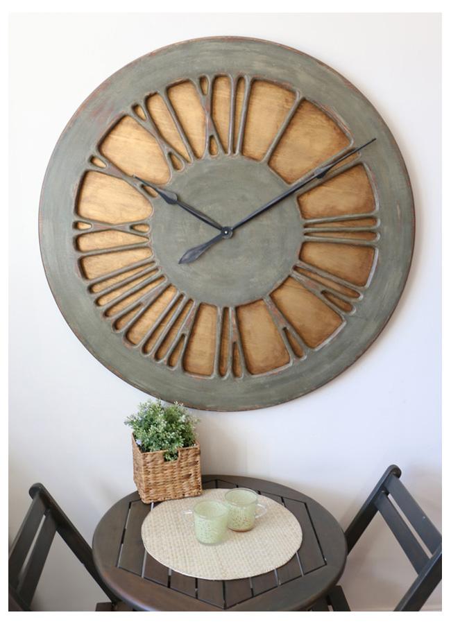 Drewniane Zegary Ścienne z Cyframi Rzymskimi