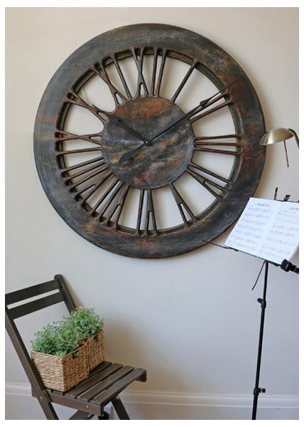 Duże Zegary Rzymskie Szkieletowe