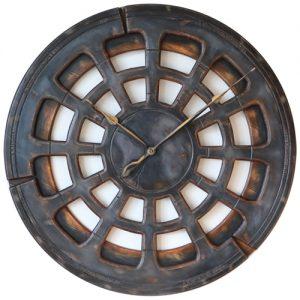Duży szary zegar ścienny