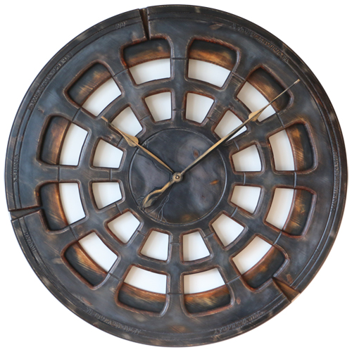 Large Grey Wall Clock