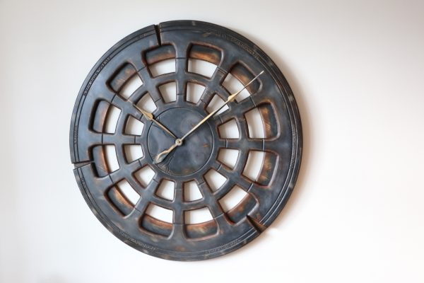 Large Grey Wall Clock To Decorate