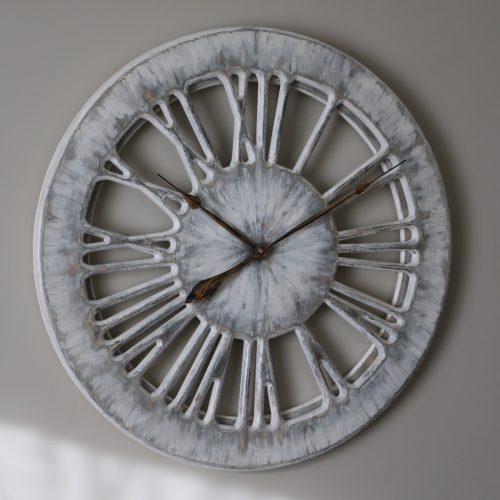 White Wall Clock From Wood